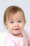 Baby Girl Head Shot Royalty Free Stock Image