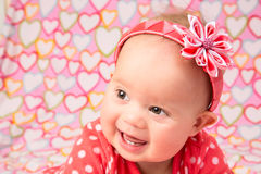 Baby Girl with Headband Royalty Free Stock Photo
