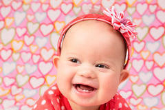 Baby Girl with Headband Royalty Free Stock Image