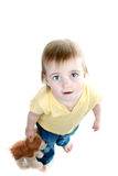 Baby Girl Holding Toy Stock Photography