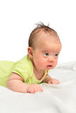 Baby Girl Holds her Head Stock Images