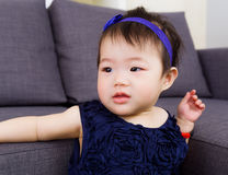Baby girl at home Stock Photography