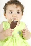Baby Girl with Ice Cream Royalty Free Stock Photo