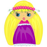 Baby girl icon. fashion girl illustration Stock Images