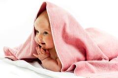 Baby girl im towel Stock Photography