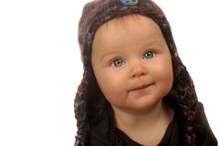 Baby Girl In Hat Royalty Free Stock Photo