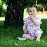 Baby Girl In Park Stock Photos