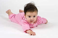 Baby Girl In Pink Stock Image