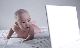 The baby girl Stock Photos