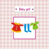 Baby girl invitation Royalty Free Stock Image