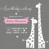 Baby girl invitation for baby shower Stock Photos