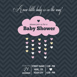 Baby girl invitation for baby shower Stock Images