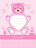 Baby girl  invitation card Royalty Free Stock Photos