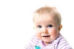 Baby girl isolated on white Stock Image