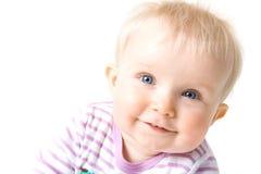 Baby girl isolated on white Stock Photo