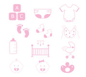 Baby Girl Items Royalty Free Stock Image
