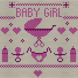 Baby Girl Knitted Background Royalty Free Stock Photos