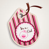 Baby girl label Stock Photo