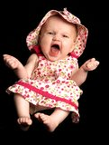 Baby Girl Laughing Royalty Free Stock Photos