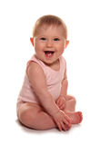 Baby girl laughing. Studio cutout Stock Photos