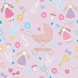 Baby girl layette pattern texture Stock Photography