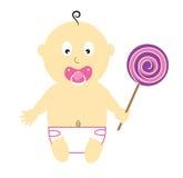 Baby Girl Lollipop Royalty Free Stock Photos