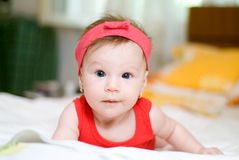 Baby girl looking Stock Image