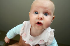 Baby Girl Looking at Camera Royalty Free Stock Photos