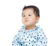 Baby girl looking up Royalty Free Stock Images