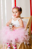 Baby girl in lush color skirt Royalty Free Stock Photo