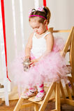 Baby girl in lush color skirt Royalty Free Stock Images