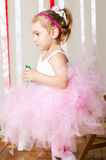 Baby girl in lush color skirt Royalty Free Stock Photography