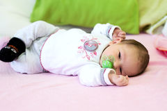 Baby Girl Lying Royalty Free Stock Photography