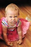 Baby girl make face Royalty Free Stock Photo
