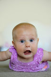 Baby Girl Making Funny Face Royalty Free Stock Images