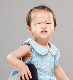 Baby girl making funny face Royalty Free Stock Image
