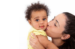 Baby Girl and Mommy royalty free stock photo