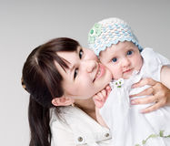 Baby Girl and Mother Royalty Free Stock Image