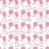 Baby girl new born pattern. In pink color for baby shower design Royalty Free Stock Photo