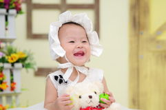 Baby Girl With Nice Dress Royalty Free Stock Photography