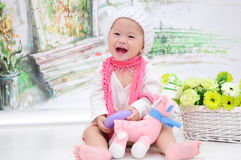 Baby Girl With Nice Dress Royalty Free Stock Images
