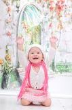 Baby Girl With Nice Dress Royalty Free Stock Photo