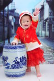 Baby Girl With Nice Dress Stock Image