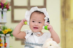 Baby Girl With Nice Dress Royalty Free Stock Photos