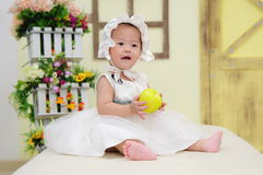 Baby Girl With Nice Dress Stock Photos