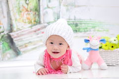 Baby Girl With Nice Dress Stock Images