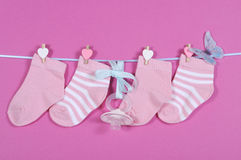 Baby girl nursery socks Stock Images