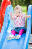Baby girl outdoor royalty free stock images