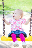 Baby girl outdoor Stock Photo