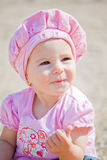 Baby girl outdoor Stock Image